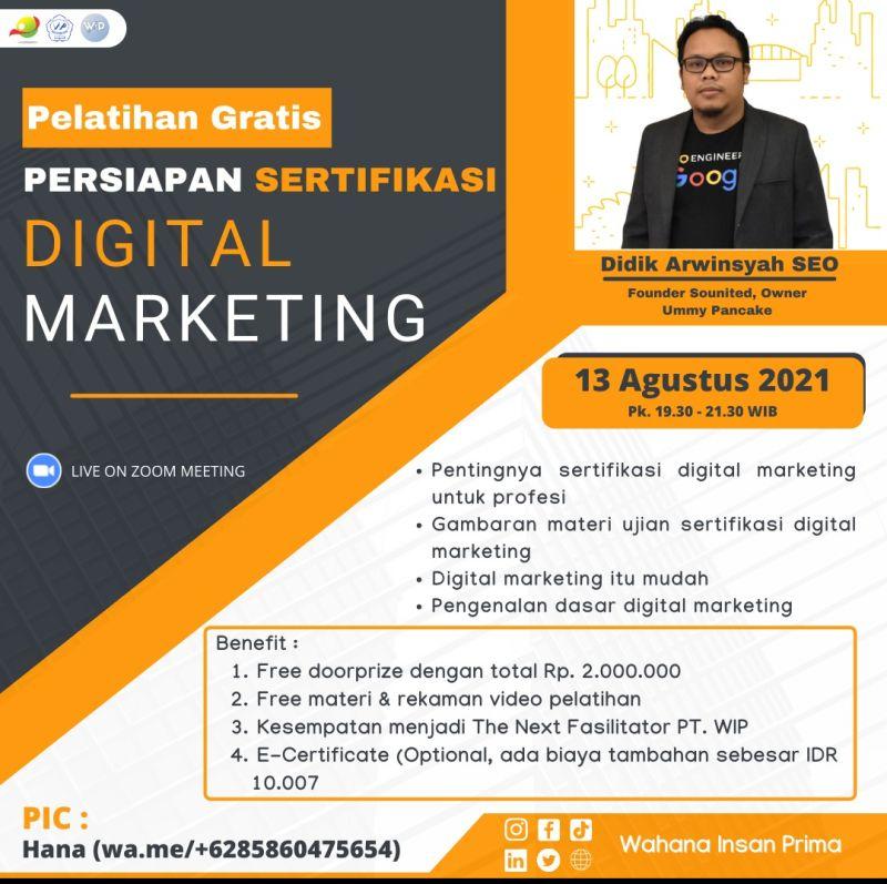Persiapan Sertifikasi Digital Marketing